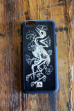 Bird Bones Wooden iPhone Case