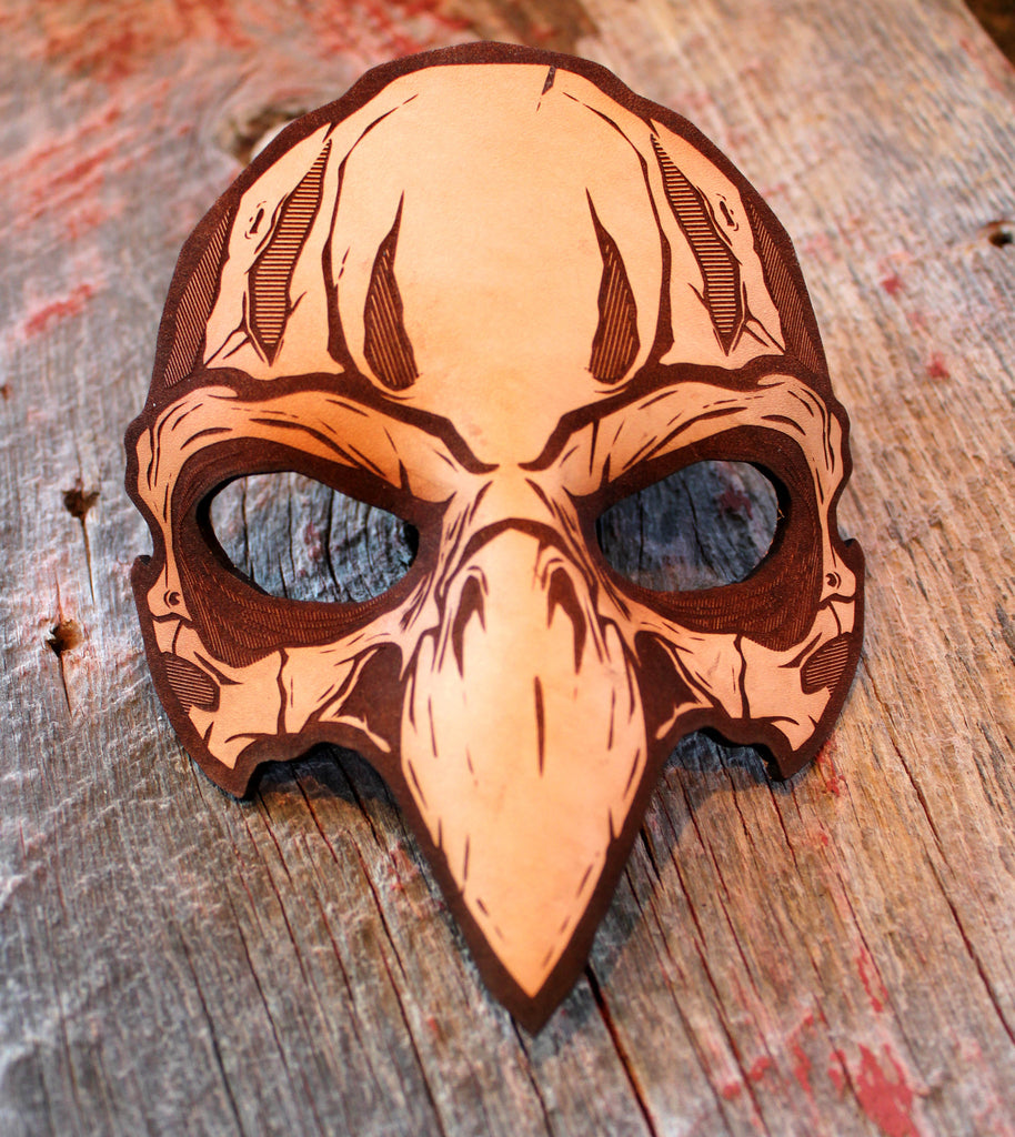 Hydro74 Natural Leather Bird Skull Mask