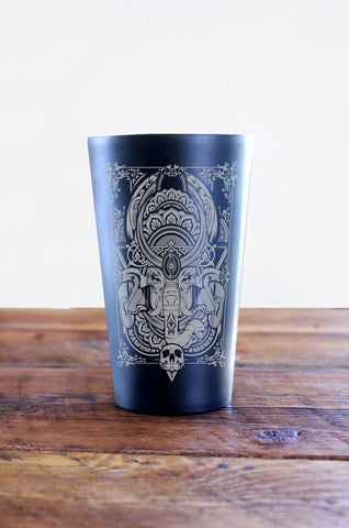 Hydro74 Owl Stainless Steel Pint