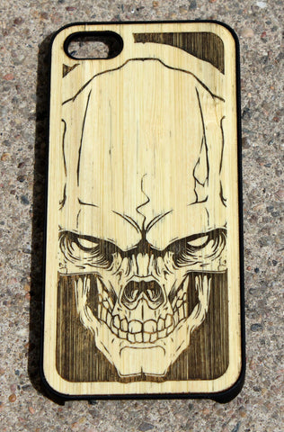 Hydro74 Skull Wood iPhone 5S/5C iPhone 6/6+ Rubberized Case