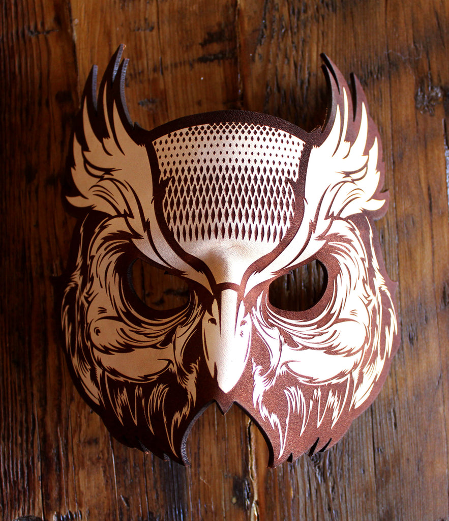 Hydro74 Natural Leather Owl Mask