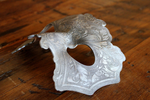 Hydro74 Silver Leather Male Flourish Mask
