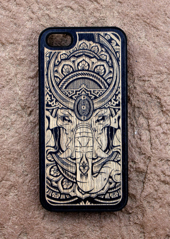 Ganesha Wood iPhone Case Hydro74xKarvt iPhone 5S/5C/6/6+