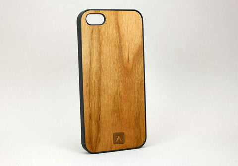 iPhone 5S 100% Real Wood Rubberized Case