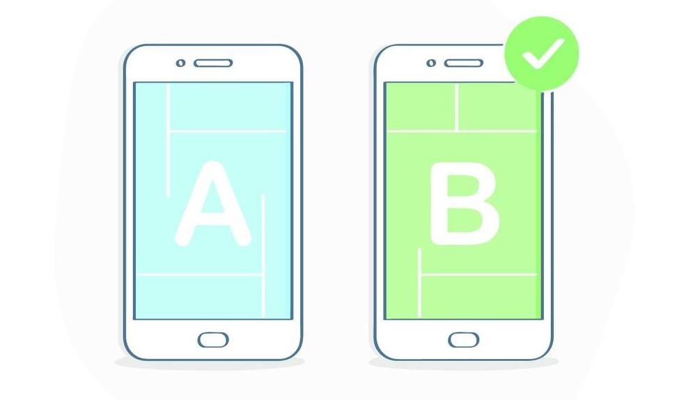 Two smartphone landing pages being A/B tested