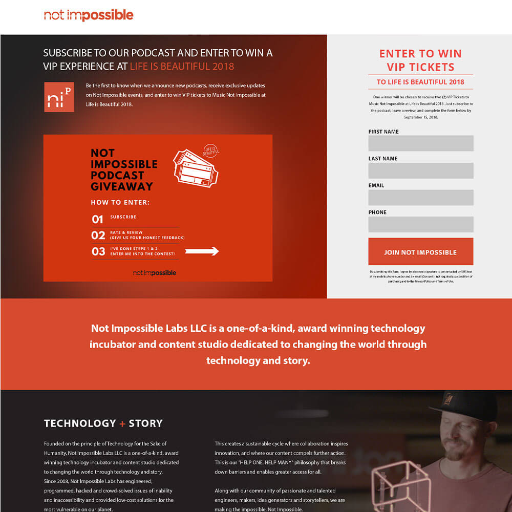 Example of our Landing Page design work | Designpax.com