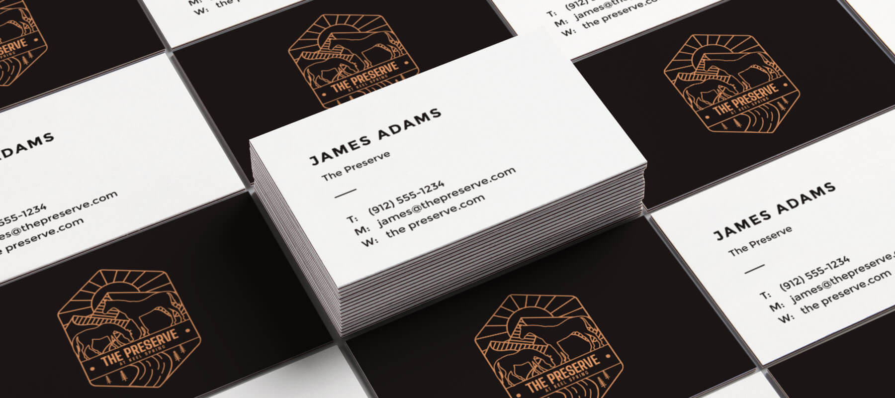 Example of our business card design work