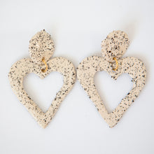 Load image into Gallery viewer, XXL HEART EARRINGS