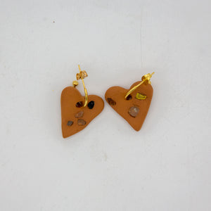 SEA GLASS MINI HEART HOOPS