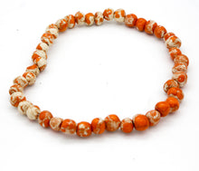 Load image into Gallery viewer, ORANGE PEARLS NECKLACE