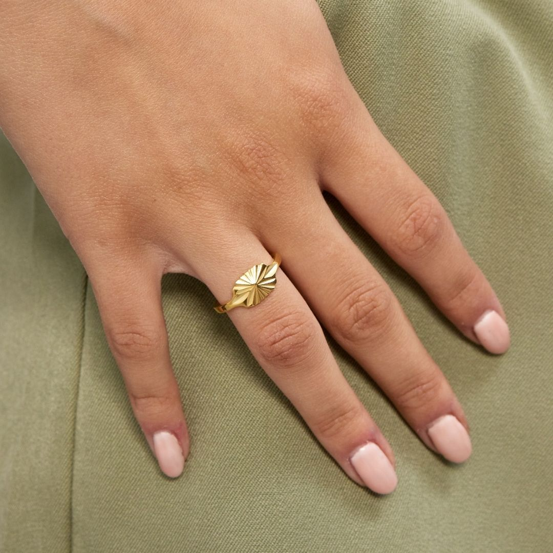 Sun Kiss Oval Ring 18K guldbelagt
