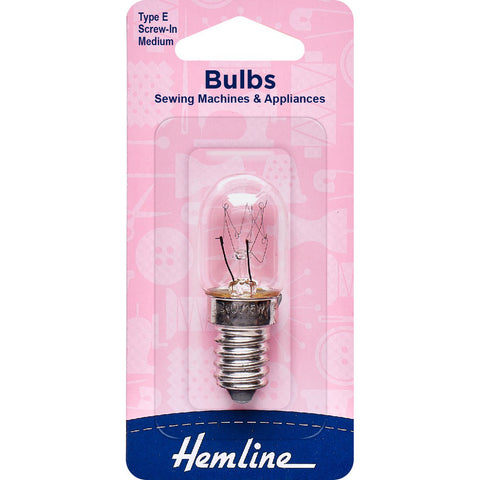 Hemline Sewing Machine Bulb - Screw-In (Medium)