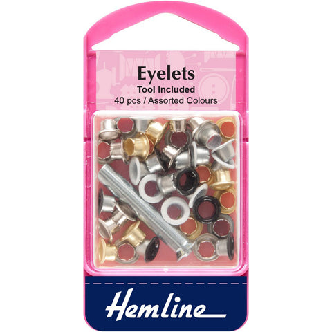 Hemline Eyelets - Assorted Colours Pack