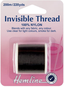 Hemline Invisible Thread - Smoke