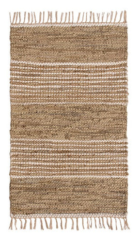 Recycled Leather & Jute Rug
