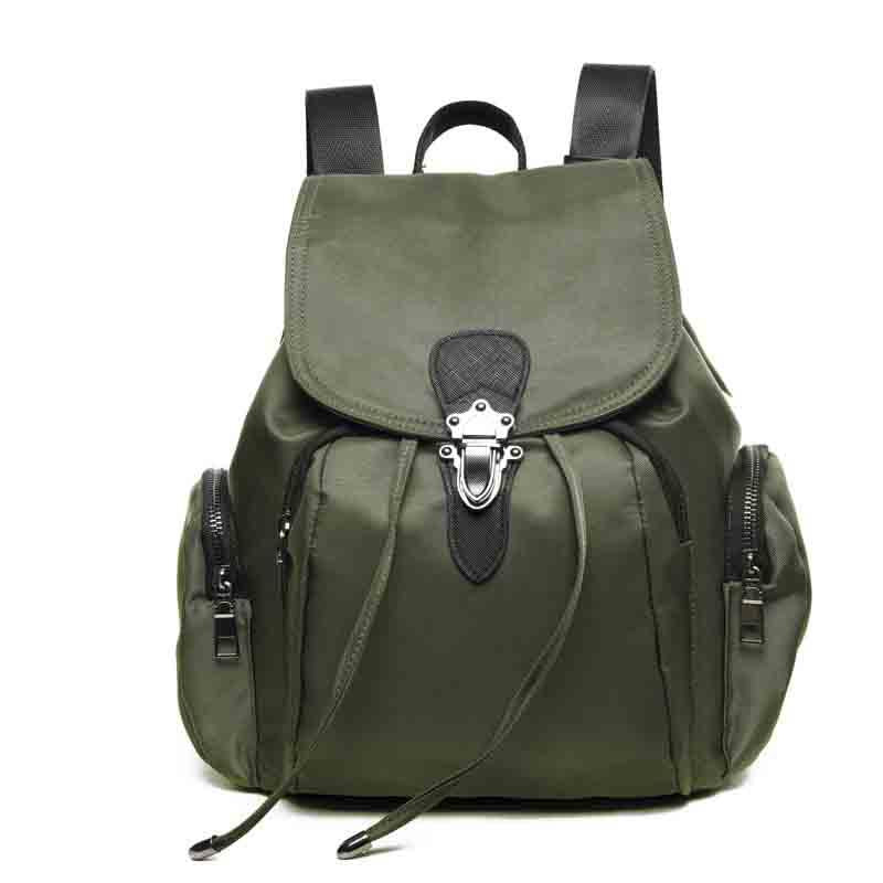 2020 new personality fashion Oxford cloth solid color sports pop women's backpack
