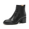 Autumn and winter new high-heeled leather women's boots