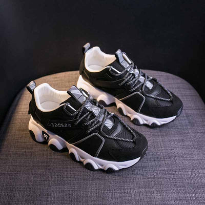 New wild spring women's shoes thick bottom small white tide shoes mesh low-heeled sneakers