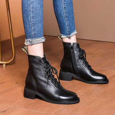 2019 autumn and winter new casual Martin boots thick with short boots with women's shoes