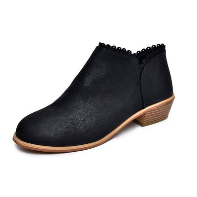 Solid color autumn new low heel Chelsea boots bare boots