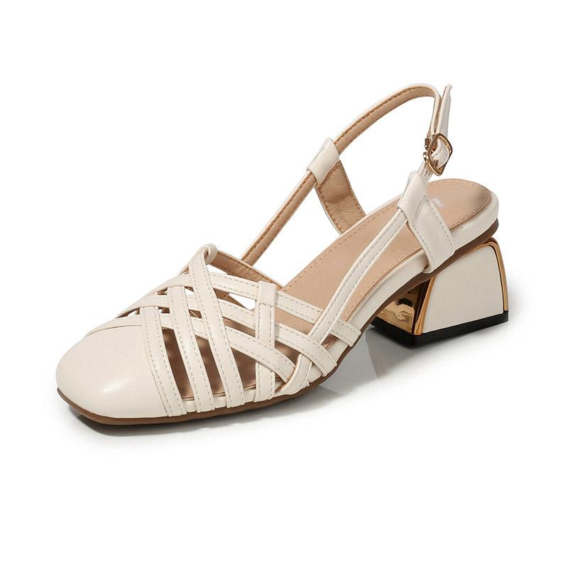 2020 summer new all-match mid-heel plus size women's sandals