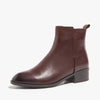 Autumn and winter leather flat-bottomed England Martin boots