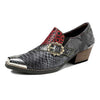2020 new hot sale casual retro ethnic style brogue printed leather fashion women's leather shoes