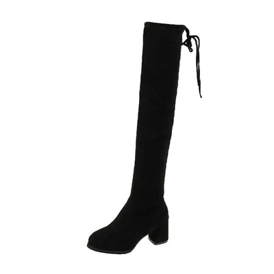 2019 new autumn and winter over the knee boots women's high heel suede does non-drop tube stretch fashion net red thin skinny boots