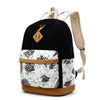 New Korean Floral Backpack Student Backpack Women's College Rucksack