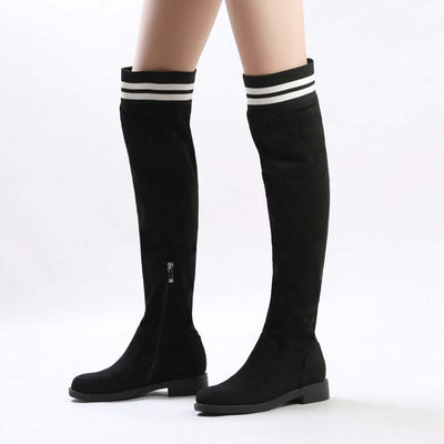 New flying woven over knee socks boots casual elastic breathable high-top elastic shoes