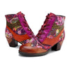 New casual leather vintage classic printed belt ladies high heel short boots women boots