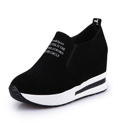 Elastic high-top casual sports loafers