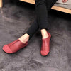 Handmade leather ethnic flat shoes