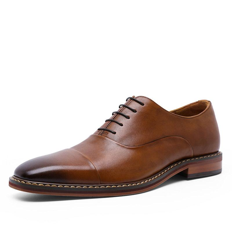 The first layer of leather lace-up leather soft Hyperion skin-friendly business casual men's leather shoes