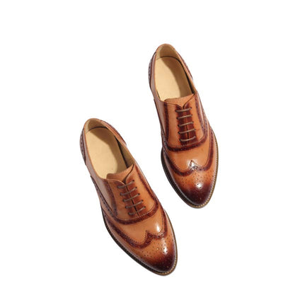 Women's Brock carved color leather loafers