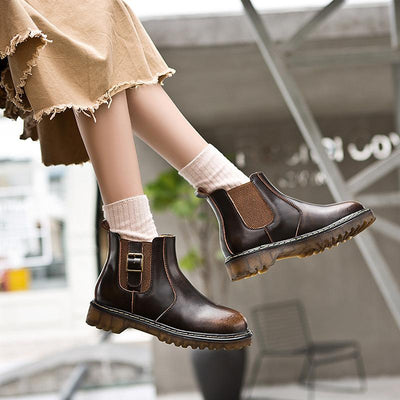 2019 new British style retro short tube Chelsea boots