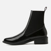 Plus velvet warm simple ladies ankle boots