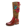 Autumn and winter new casual retro ethnic style leather women's boots and knee women's boots