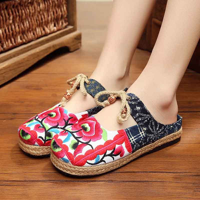 Perfect travel embroidery shoes in bohemian long skirts