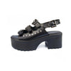 Summer 2020 new leather retro casual thick bottom rivet women's sandals