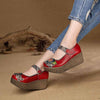 2020 summer new fashion comfortable leather mid heel women's shoes