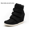2019 spring new Korean version of Velcro invisible heighten women's casual shoes