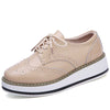Casual sports England style thick-bottomed brogue shoes mid heel deep mouth women's shoes