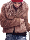 Winter fur new European and American style no collar super warm imitation fur rabbit fur thick coat