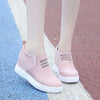 2019 autumn new wedge heel flat bottom casual increased inside round head large size women's shoes