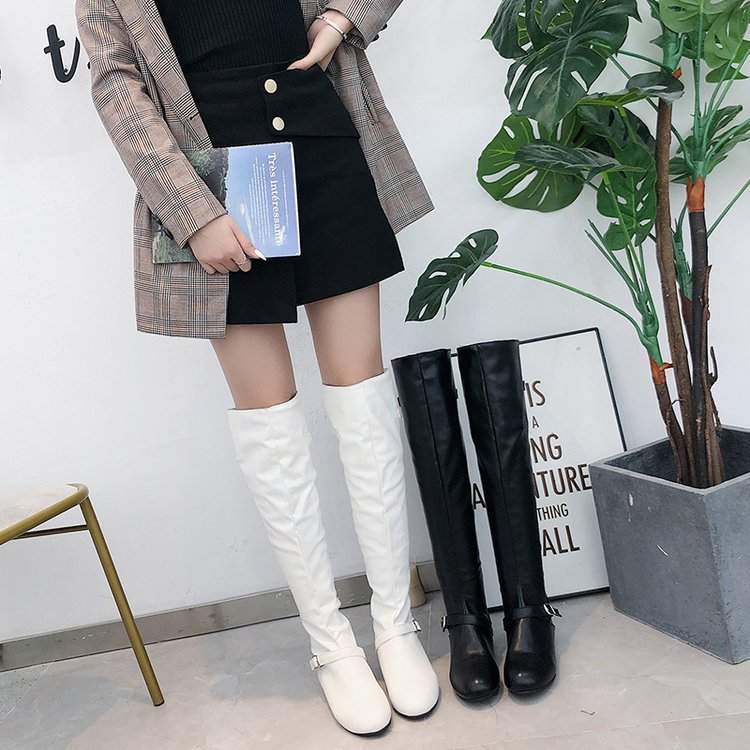 Over-the-knee female knight boots
