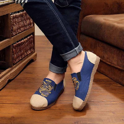 Ethnic style breathable linen shoes