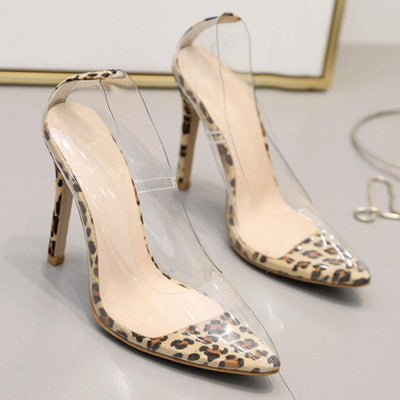 See-Through Sexy Point Toe Stiletto Heel Slip-On Pumps