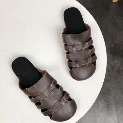 Original handmade cowhide literary women's sandals