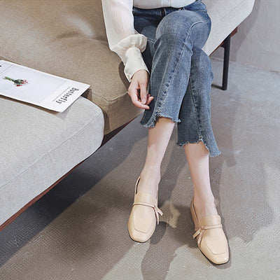 2019 early autumn new party fashion shoes small leather shoes first layer leather loafers